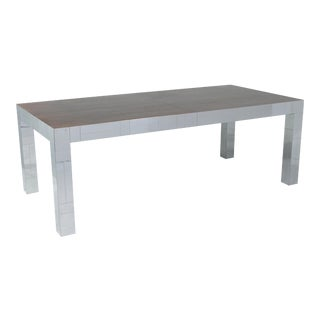 Paul Evans Chrome Cityscape Dining Table with Rosewood Top For Sale