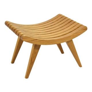 Edward Durell Stone Oak Bench For Sale