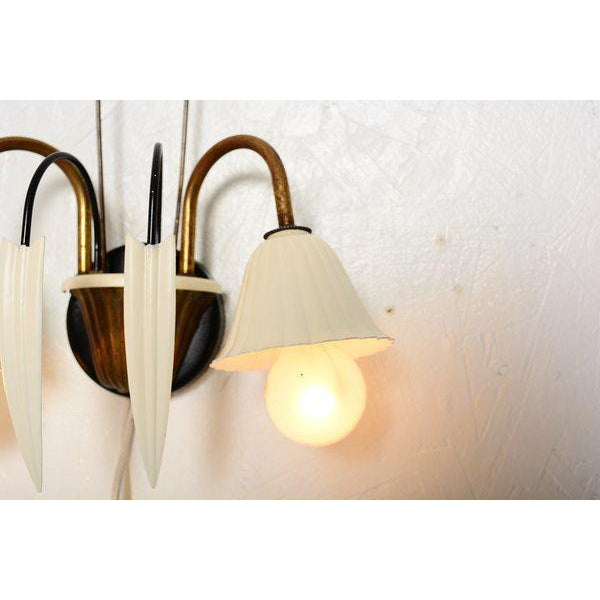 Italian Flower-Shaped Italian Wall Sconces - a Pair For Sale - Image 3 of 8