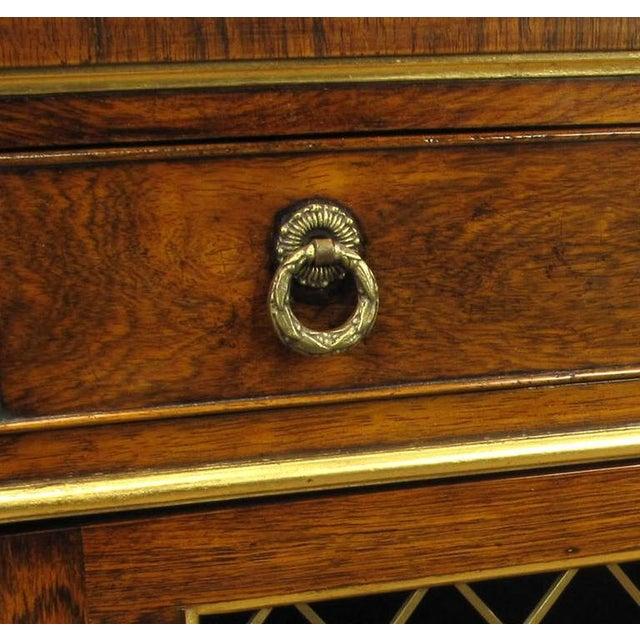 Gold Arthur Brett & Sons Regency Style Rosewood Sideboard For Sale - Image 8 of 10