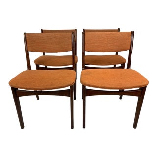 1960s Vintage Erik Buch Teak Dining Chairs - Set of 4 For Sale