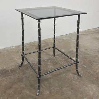 Mid-Century Modern Brass Faux Bamboo Lamp Table Preview