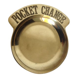 "Brass ""Pocket Change"" Valet Dish For Sale"