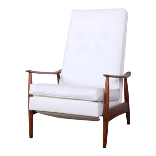 Milo Baughman for James Inc. Reclining Lounge Chair, Newly Refinished For Sale