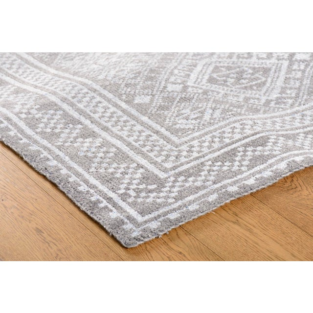 Contemporary Stark Studio Rugs Contemporary Piper Silver Wool Rug - 9′ × 12′ For Sale - Image 3 of 4