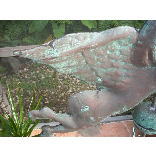 Late 19th Century Late 19th Century Antique Horn Blowing Angel Weathervane For Sale - Image 5 of 11