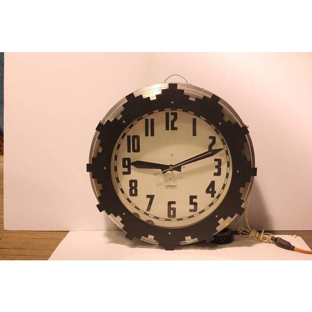 1930s Neon Aztec Clock - Image 2 of 2