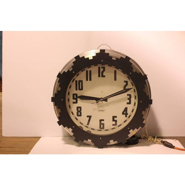 1930s Neon Aztec Clock. This piece would look great in a library or study room.