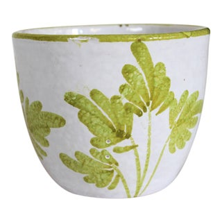 Hand Painted Italian Terracotta Planter For Sale