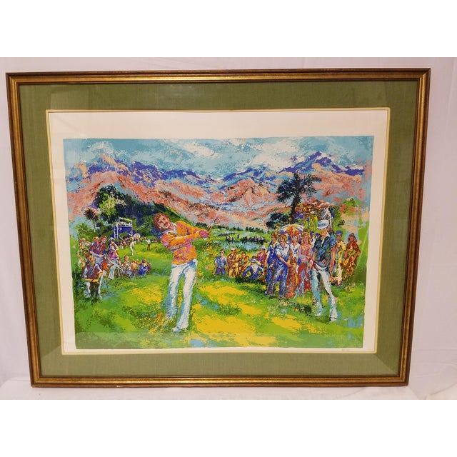Mid Century Oversized Golf Sporting Serigraph Print by artist Mark King of the Palm Beach Golf Classic, California in...