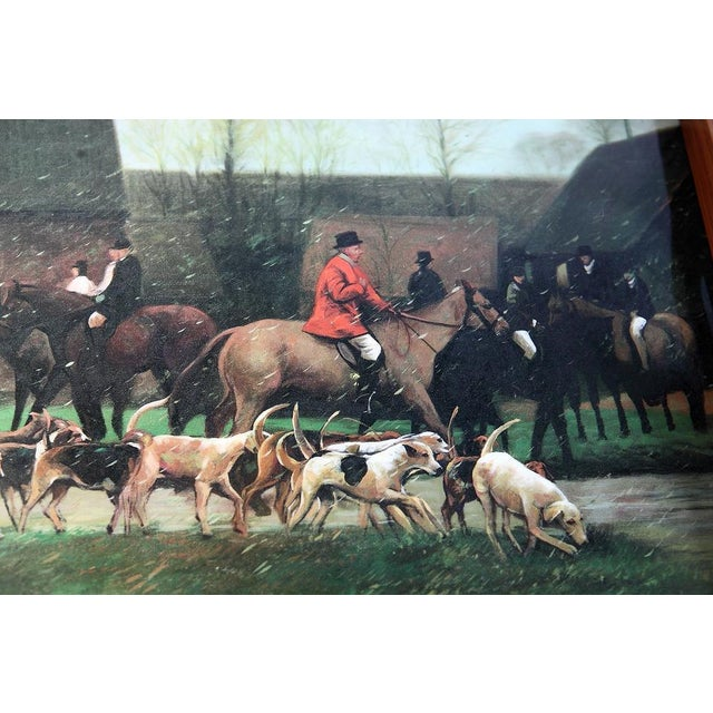 Fox Hunting Equestrian Coasters and Tray Set For Sale - Image 4 of 9