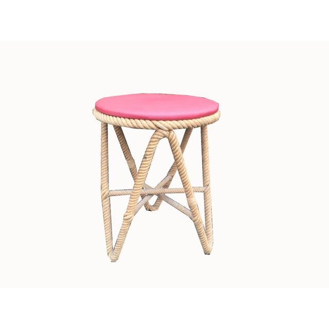 1970s Vintage French Rope Stool For Sale - Image 5 of 5