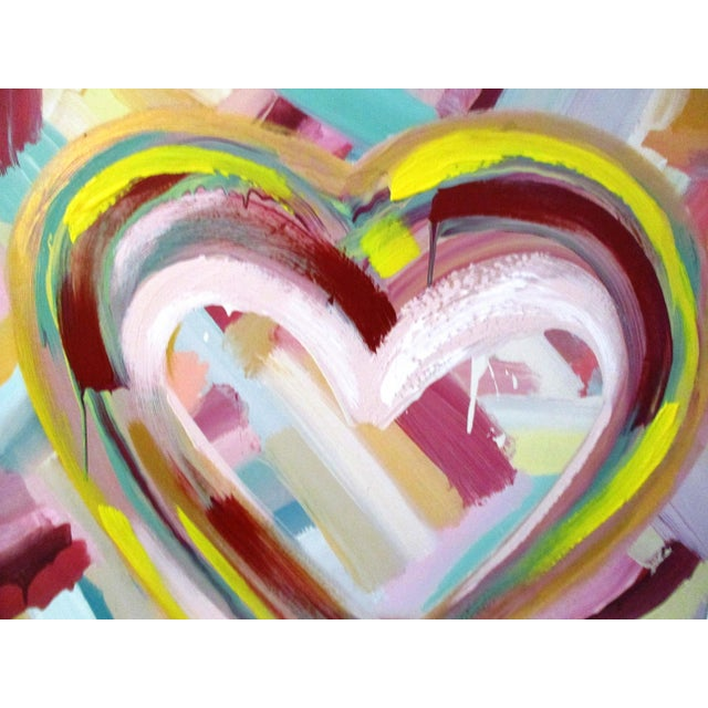 """Happy Heart"" Hand-Embellished Giclee - Image 6 of 11"