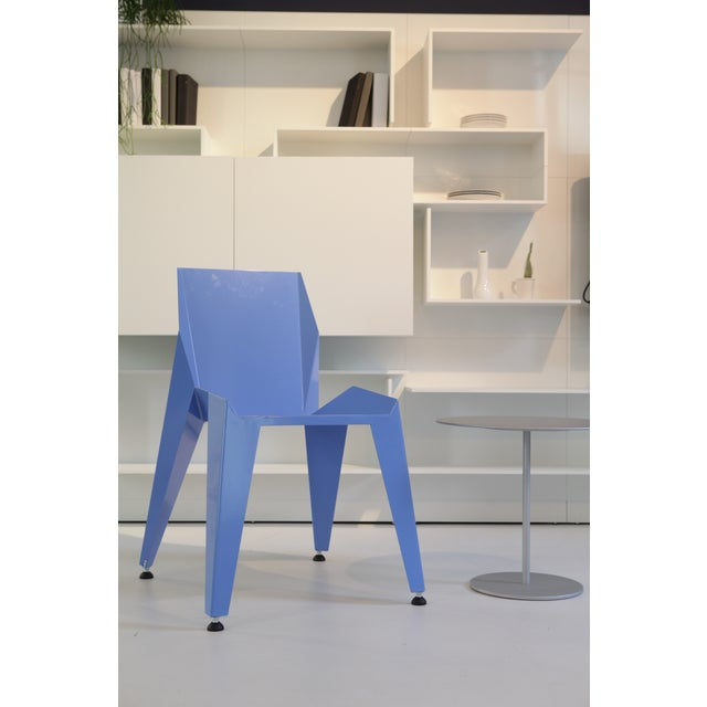 2010s Origami Inspired Edge Blue Chair | Indoor & Outdoor Chair For Sale - Image 5 of 8