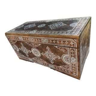Antique Filipino Chest With Mother of Pearl Inlay For Sale