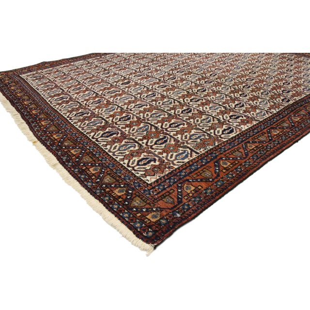 Art Deco Antique Persian Afshar Rug - 05'01 X 06'03 For Sale - Image 3 of 9