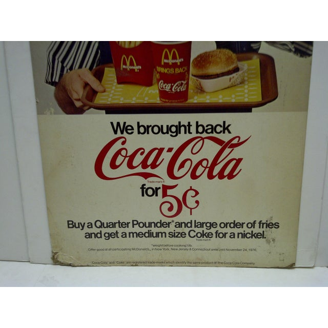Vintage McDonalds & Coca-Cola Advertising Sign For Sale - Image 4 of 5