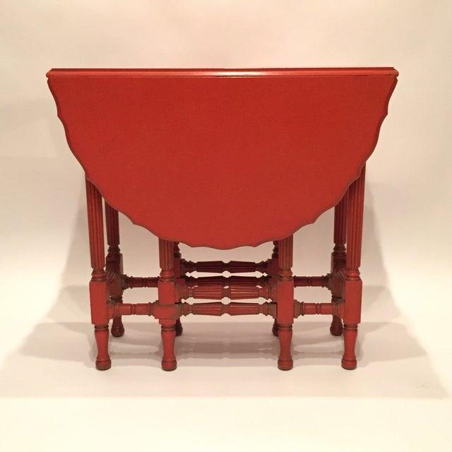 Vintage Orange Drop Leaf Table - Image 2 of 11