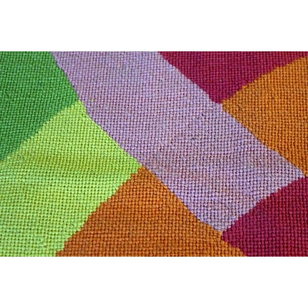 1971 Abstract Design Needlepoint Rug - Image 2 of 4