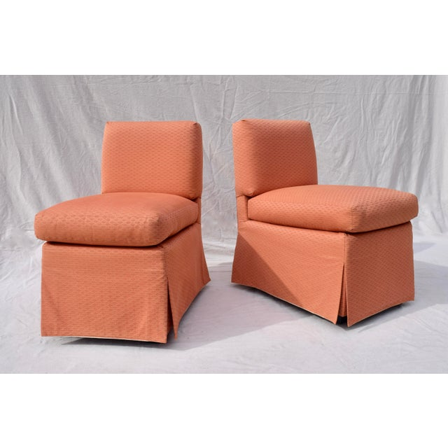 Hollywood Regency Billy Baldwin Slipper Chairs, Pair For Sale - Image 3 of 12