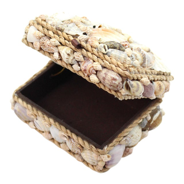 Vintage Shell Encrusted Grotto Style Box For Sale