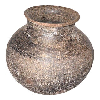 """Chinese """"Warring States"""" Pottery Jar, 475-200 Bce For Sale"""