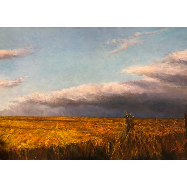 Early 21st Century Wheatfield Contemporary Landscape Painting For Sale - Image 5 of 5