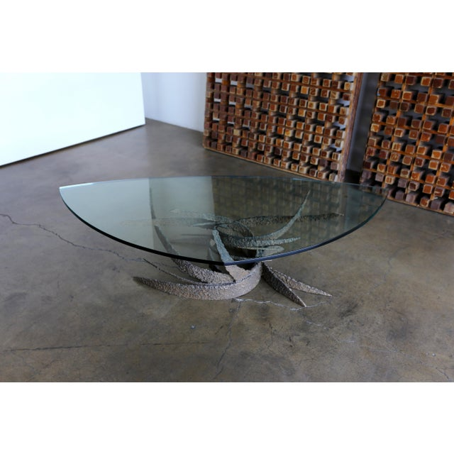 Mid 20th Century Daniel Gluck Bronze Sculptural Coffee Table For Sale In Los Angeles - Image 6 of 13