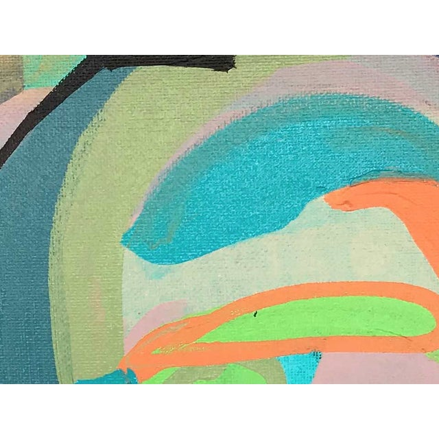 This abstract portrait is by contemporary artist Linda Ward of Detroit. This portrait is #485 out of a series of 500...