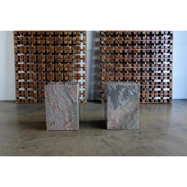 1980s 1980s Granite Stone Occasional Tables - a Pair For Sale - Image 5 of 11