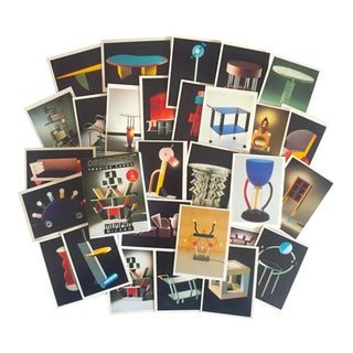 Vintage Memphis Milano Post Modern Designer Collector's Trading Cards Boxed Set For Sale