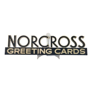 "Vintage ""Norcross Greeting Cards"" Advertising Display Sign"