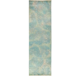 """One-of-a-Kind Contemporary Vibrance Hand-Knotted Runner 3' 1"""" x 10' 2"""" For Sale"""