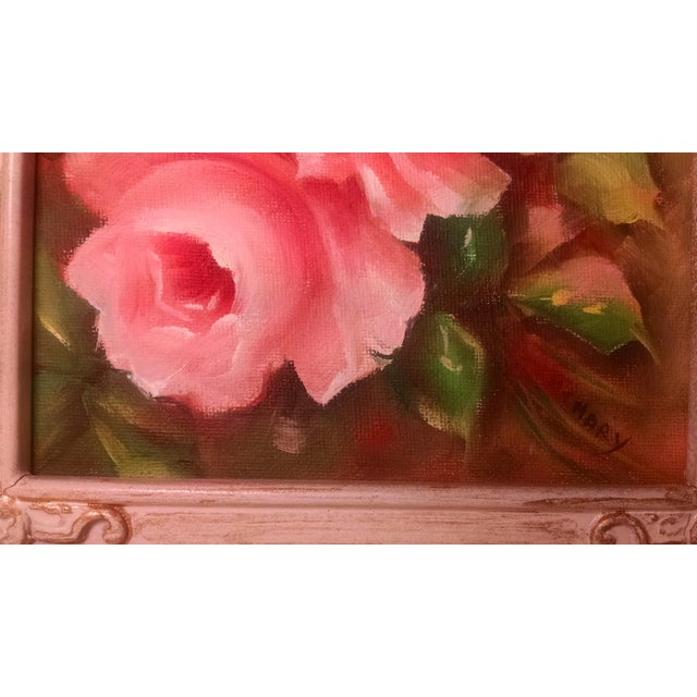 Vintage Swivel Stand With Signed Floral Painting - Image 3 of 5