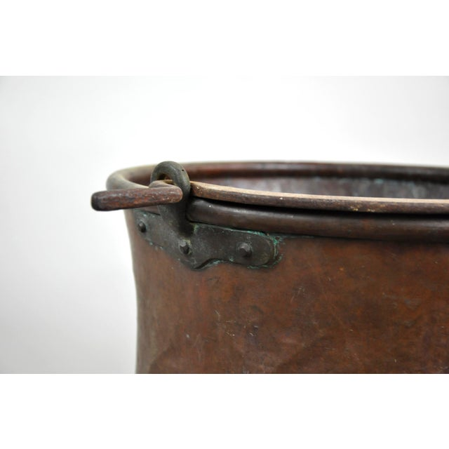 Antique French Copper Cauldron Kettle For Sale In New York - Image 6 of 13