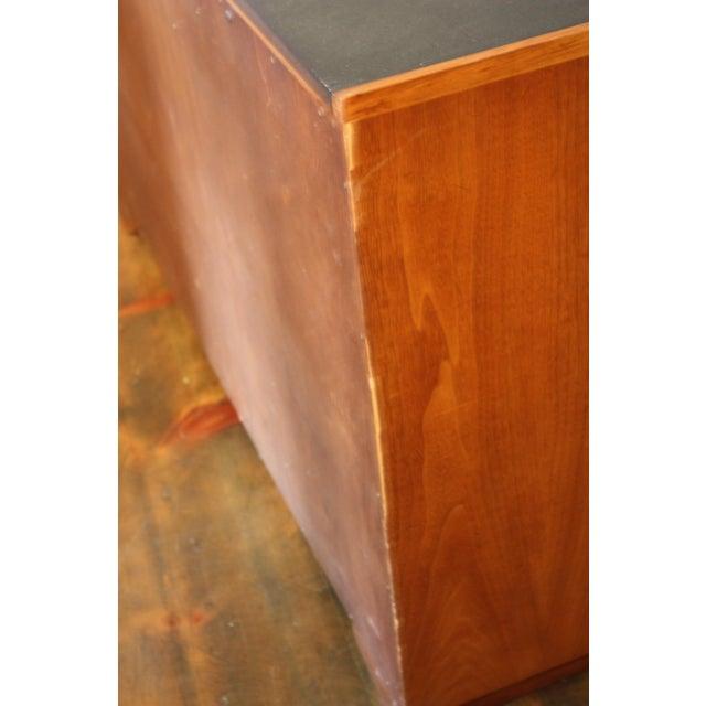 Diminutive Henredon Walnut and Slate Sideboard - Image 8 of 8