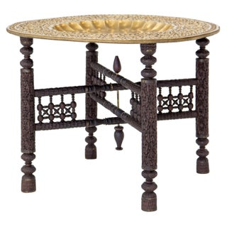 Anglo-Indian Folding Brass Tray Table Preview