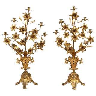Pair of French Candlesticks For Sale