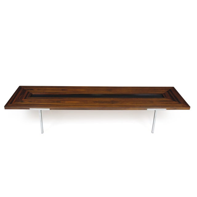 Mid-Century Modern Santos Rosewood Coffee Table For Sale - Image 3 of 11