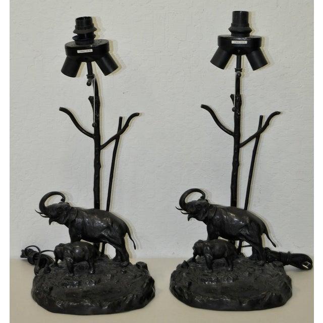 Italian Elephant & Calf Table Lamps - A Pair - Image 2 of 5