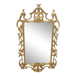 Italian Style Gilt Carved Mirror For Sale