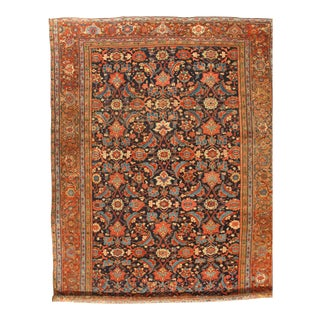 """Pasargad Ny Original Antique Persian Sultanabad Wool Rug - 10'6"""" X 14'6"""" For Sale"""