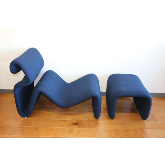 Abstract Ribbon Lounge Chair and Ottoman by Oliver Mourgue For Sale - Image 3 of 12