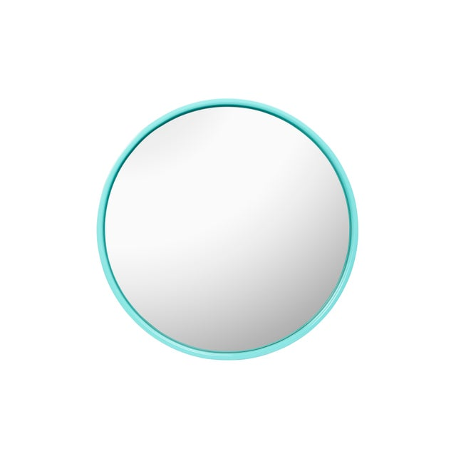 Not Yet Made - Made To Order Large Round Mirror in Olive Green / Tiffany Blue - Pentreath & Hall for The Lacquer Company For Sale - Image 5 of 5