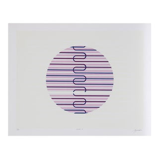 Jupiter 4, Geometric Abstract Serigraph For Sale