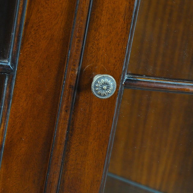 Wood Carved Mahogany Corner Cabinet For Sale - Image 7 of 8
