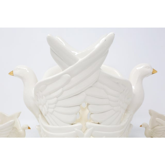 Ceramic Flying Doves Candle Holders - Set of 3 For Sale - Image 4 of 12