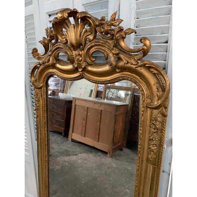 Early 18th Century 18th Century Ornate French Louis Philippe Style Mirror For Sale - Image 5 of 13