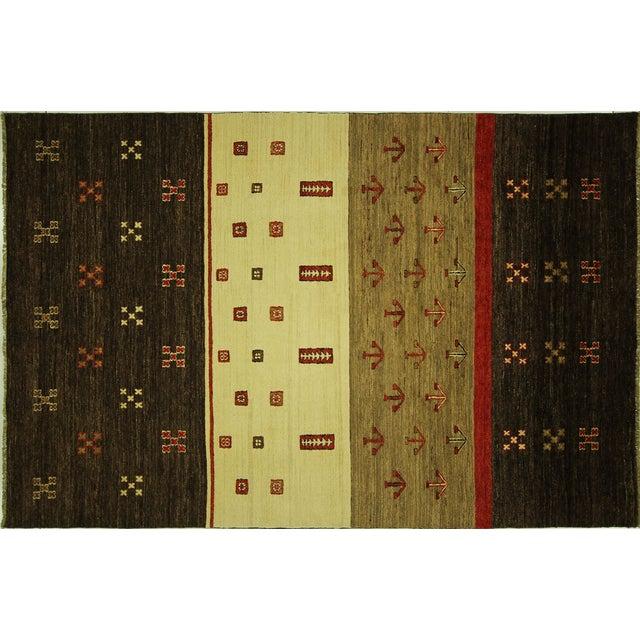 New Multicolor Gabbeh Oriental Area Rug - 6' x 9' - Image 1 of 10