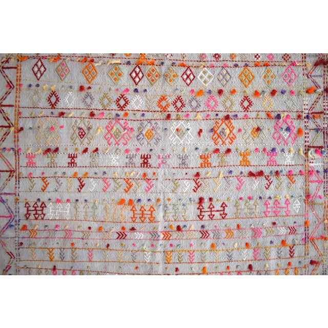 """1940s Antique Anatolian Braided Rug Hand Woven Cotton Small Rug Sofreh - 3'7"""" X 3'10"""" For Sale - Image 5 of 8"""